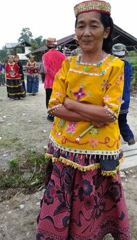 Traditional clothes made from fabrics