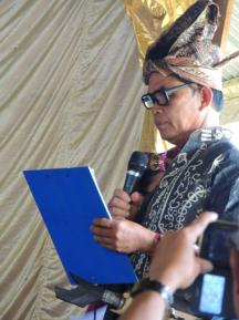 The Chief of Rampi ethnic group