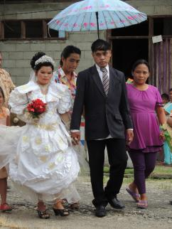 The groom's family