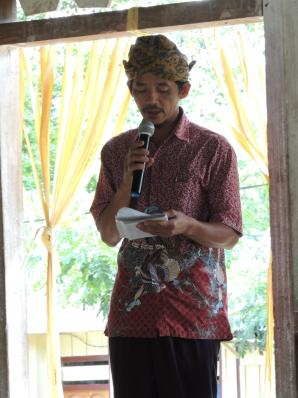 The master of ceremony for the event